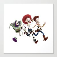 toy story Canvas Prints featuring Toy story by Maxvision