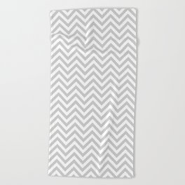 Grey Chevron Beach Towel