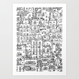 Cats and the city.first edition Art Print