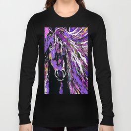 HORSE WILD AND PRETTY OIL PAINTNG Long Sleeve T-shirt
