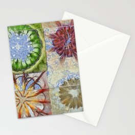 Bepainted Concrete Flower  ID:16165-003711-19651 Stationery Cards