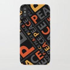 Peace....no more wars Slim Case iPhone X