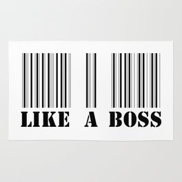 like a boss barcode Rug
