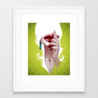 vampire Framed Art Prints featuring Vampire by Kimball Gray