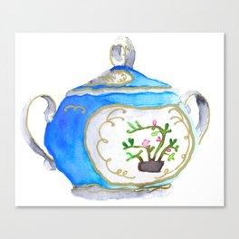 Sugar Bowl Water Color Canvas Print