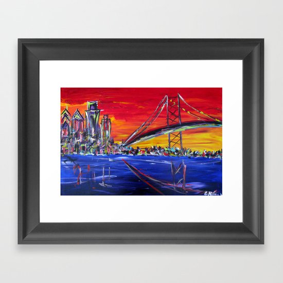 Ben Franklin Bridge Sunrise Framed Art Print