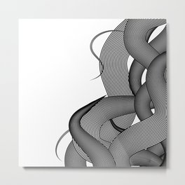 Hairy Waves Metal Print