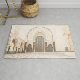 Perspective - Hassan II Mosque - Casablanca, Morocco Rug