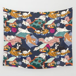 Lounging Shibas Wall Tapestry