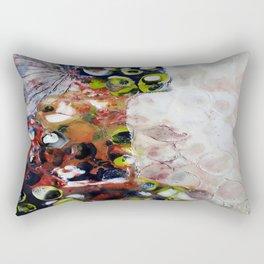 Muse Morphing - Mixed Media Beeswax Encaustic Modern Fine Art, 2015 Rectangular Pillow