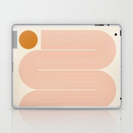 Abstraction_SUN_LINE_ART_Minimalism_002 Laptop & iPad Skin