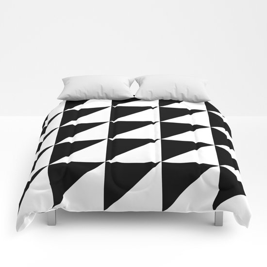 Black and white retro  Comforters