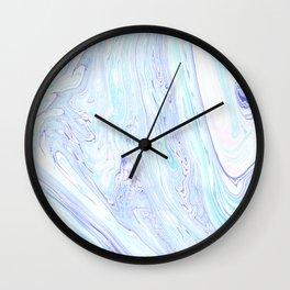 Marbling Colorful Waves Wall Clock