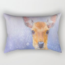 Festive Reindeer Rectangular Pillow