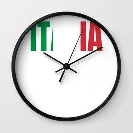 Italy South Holiday Flag Gift Wall Clock