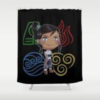 korra Shower Curtains featuring Avatar Korra by sambeawesome