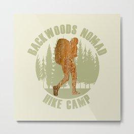Backwoods Nomad Hike Camp Metal Print