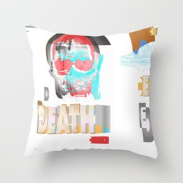 DEATH BECOMES U Throw Pillow