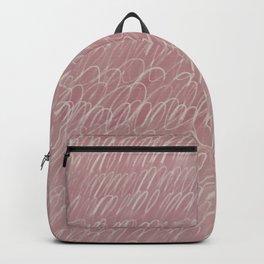 Cy Scribble in Rose Backpack