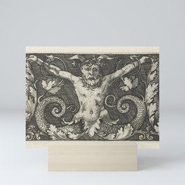 Ornament with satyr and dolphins, Monogrammist LB (Netherlands) (possibly), after Monogrammist IB (1 Mini Art Print