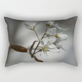 The fragile start of spring Rectangular Pillow