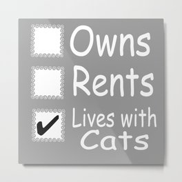 Lives With Cats Metal Print
