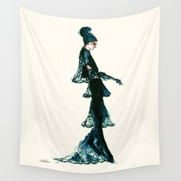 Vintage Vogue - Diesel Blue Fashion Dress Wall Tapestry