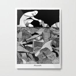Shakespearean Death Scenes--Macbeth Metal Print