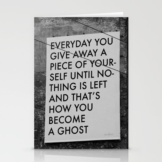HOW TO BECOME A GHOST Stationery Cards