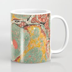 Marbled Green Orange 2 Mug