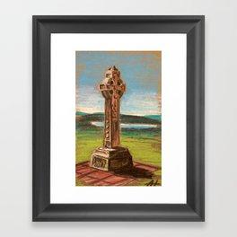 Celtic High Cross Framed Art Print