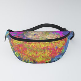 Super Type Man - Abstract Pop Art Comic Fanny Pack