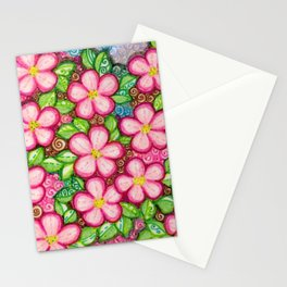 Cherry Blossom Square for Jeanie & Darry Stationery Cards