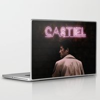 castiel Laptop & iPad Skins featuring CASTIEL by mycolour