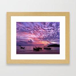 Thai Purple Sunset Framed Art Print