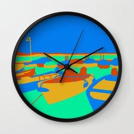Boats at Lake Garda Wall Clock