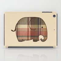 plaid iPad Cases featuring Plaid Elephant  by Terry Fan