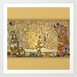 The Tree of Life with gold stripe by Gustav Klimt Art Print