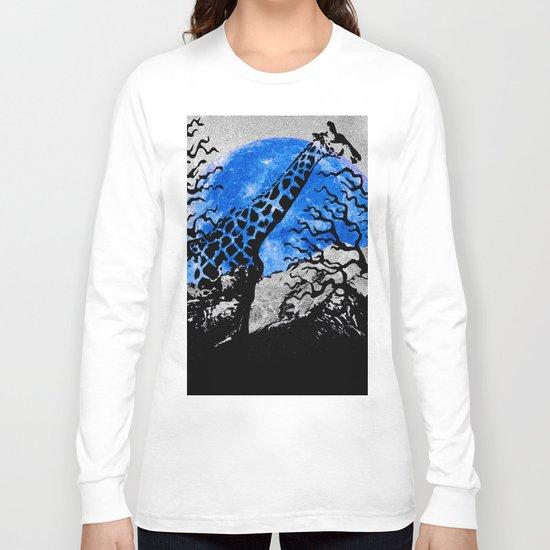 GIRAFFE IN A THICKET Long Sleeve T-shirt
