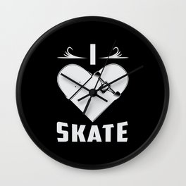 Skateboard Skater Kickflip Skating Skate Gift Idea Wall Clock