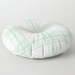 Farmhouse Plaid in Sage Green and White Floor Pillow