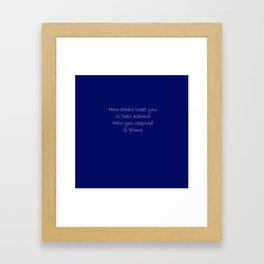 Blue Karma Framed Art Print