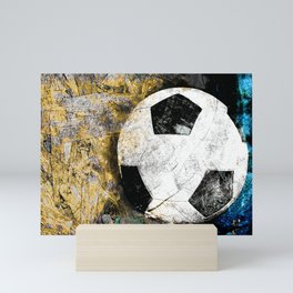 Soccer art print work vs 2 Mini Art Print
