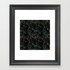 Splat Color Black R Framed Art Print