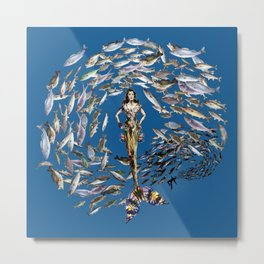 Mermaid in Monaco Metal Print
