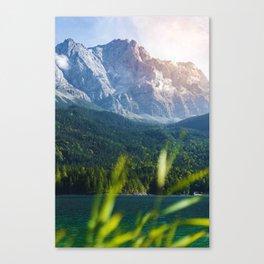 Grass Mountain View (Color) Canvas Print