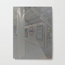 Temple station London 5 Metal Print