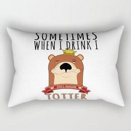Otter Marten Weasel Wine Drinking Funny Animal Gift Rectangular Pillow