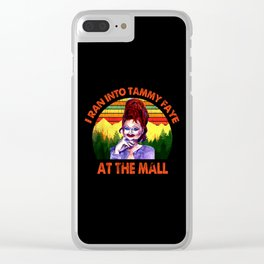 I Ran Into Tammy Faye At The Mall Vintage Clear iPhone Case