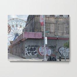 Coney Island summer 2020 Metal Print